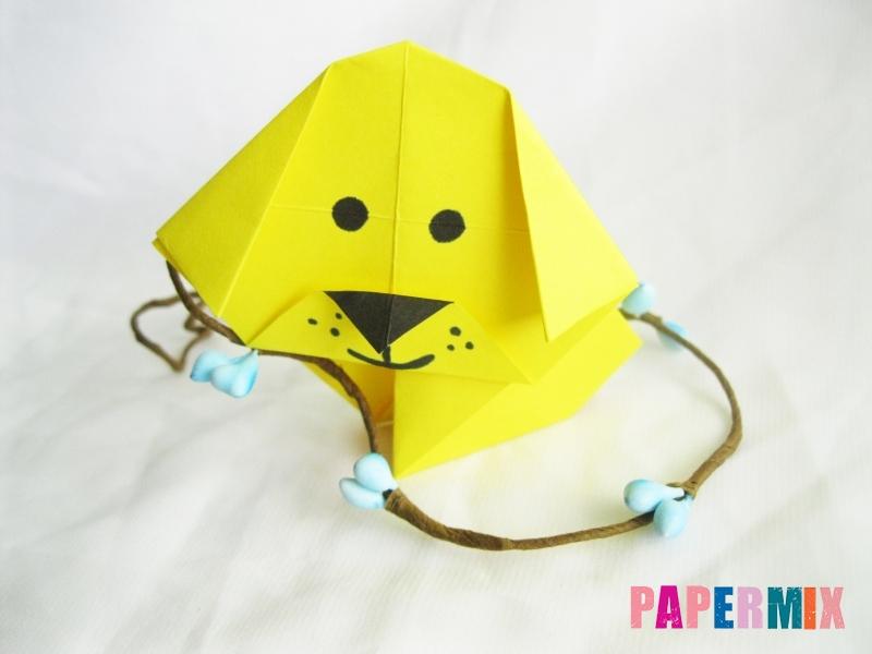 Как сделать щенка из бумаги поэтапно - шаг 13