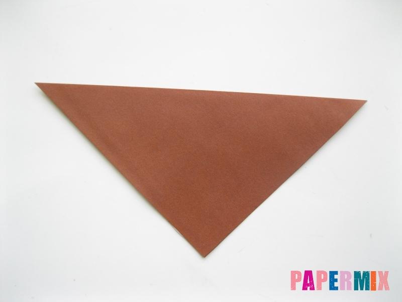 Как сделать сову из бумаги (оригами) поэтапно - шаг 1