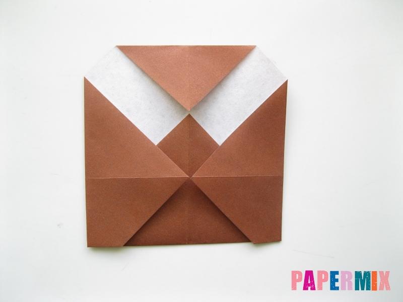 Как сделать сову из бумаги (оригами) поэтапно - шаг 5