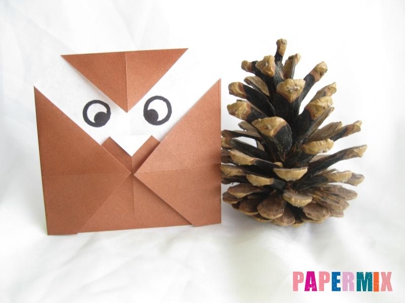 Как сделать сову из бумаги (оригами) поэтапно - шаг 8