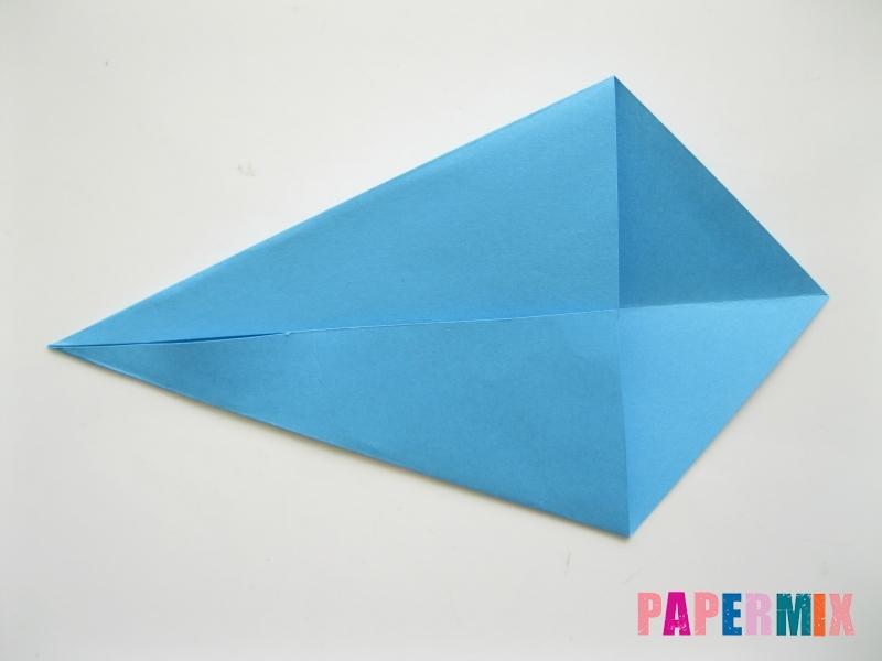 Как сделать зайца из бумаги поэтапно - шаг 2