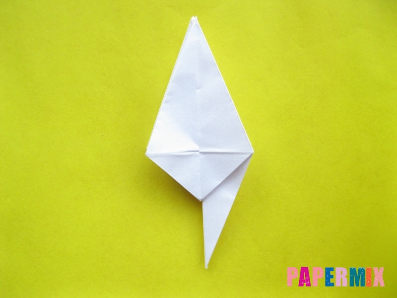 Как сделать зебру из бумаги (оригами) поэтапно - шаг 10