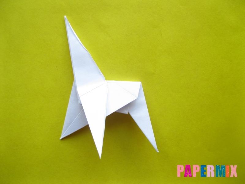 Как сделать зебру из бумаги (оригами) поэтапно - шаг 13