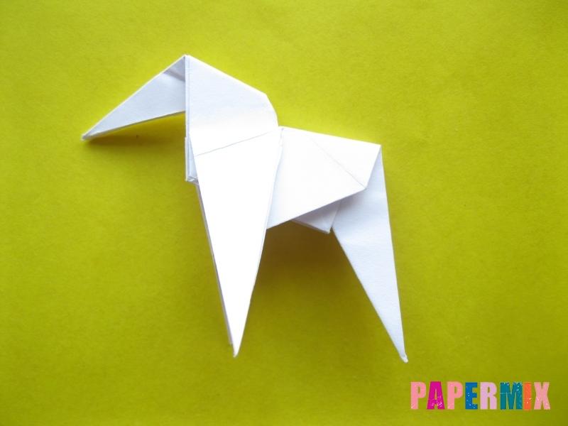 Как сделать зебру из бумаги (оригами) поэтапно - шаг 14