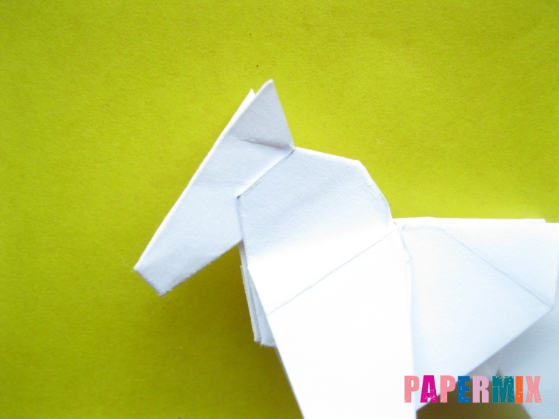 Как сделать зебру из бумаги (оригами) поэтапно - шаг 16