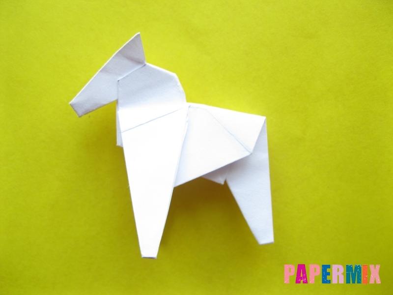 Как сделать зебру из бумаги (оригами) поэтапно - шаг 17