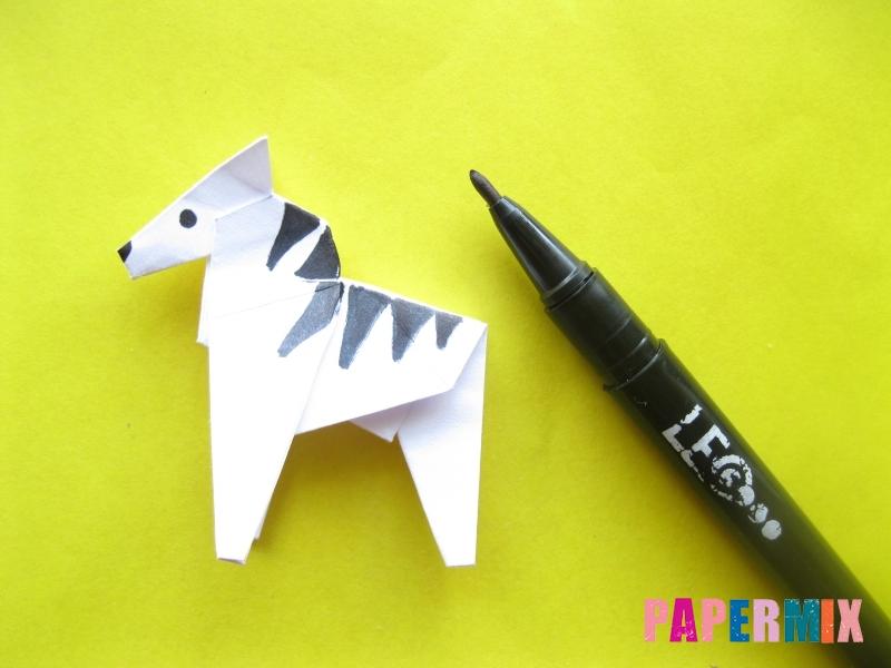 Как сделать зебру из бумаги (оригами) поэтапно - шаг 18