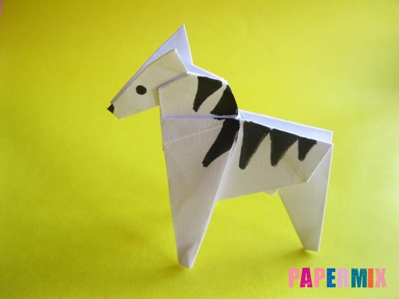 Как сделать зебру из бумаги (оригами) поэтапно - шаг 19