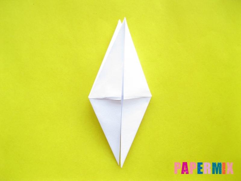 Как сделать зебру из бумаги (оригами) поэтапно - шаг 6