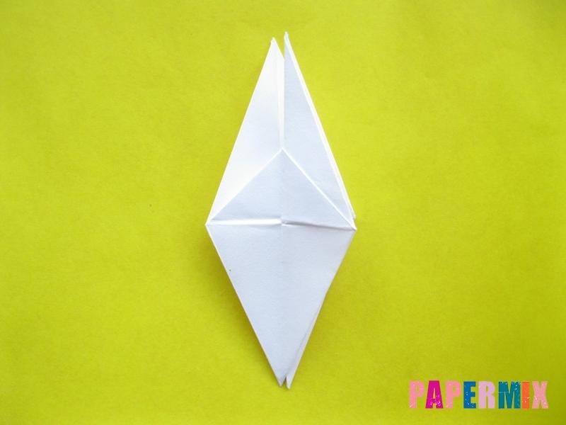 Как сделать зебру из бумаги (оригами) поэтапно - шаг 7