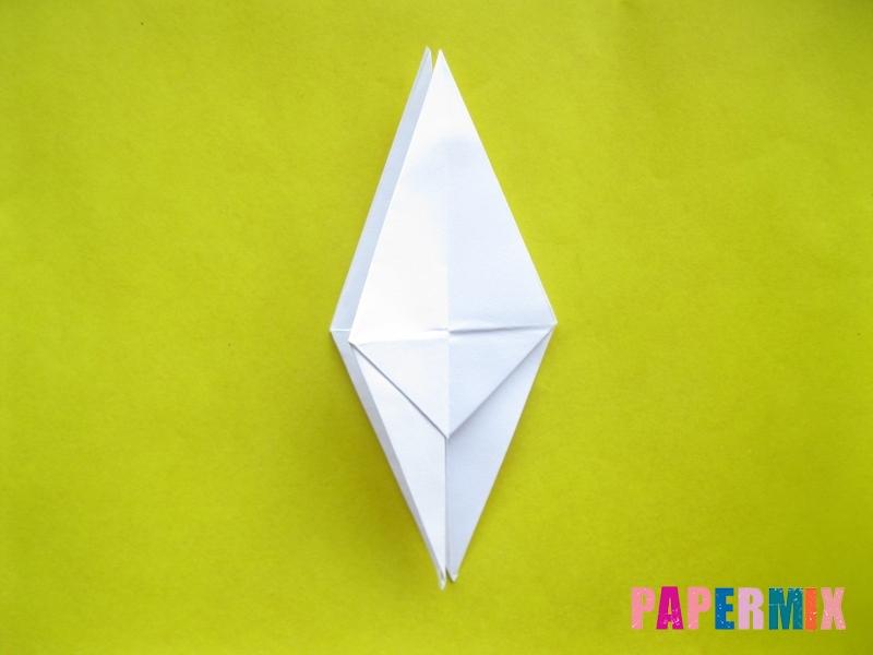 Как сделать зебру из бумаги (оригами) поэтапно - шаг 8