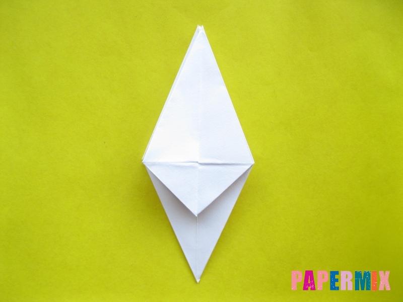 Как сделать зебру из бумаги (оригами) поэтапно - шаг 9