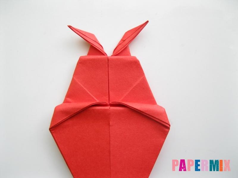 Как сделать жука из бумаги (оригами) инструкция - шаг 10
