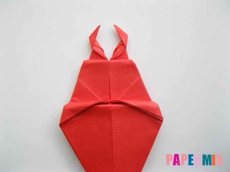 Как сделать жука из бумаги (оригами) инструкция - шаг 11