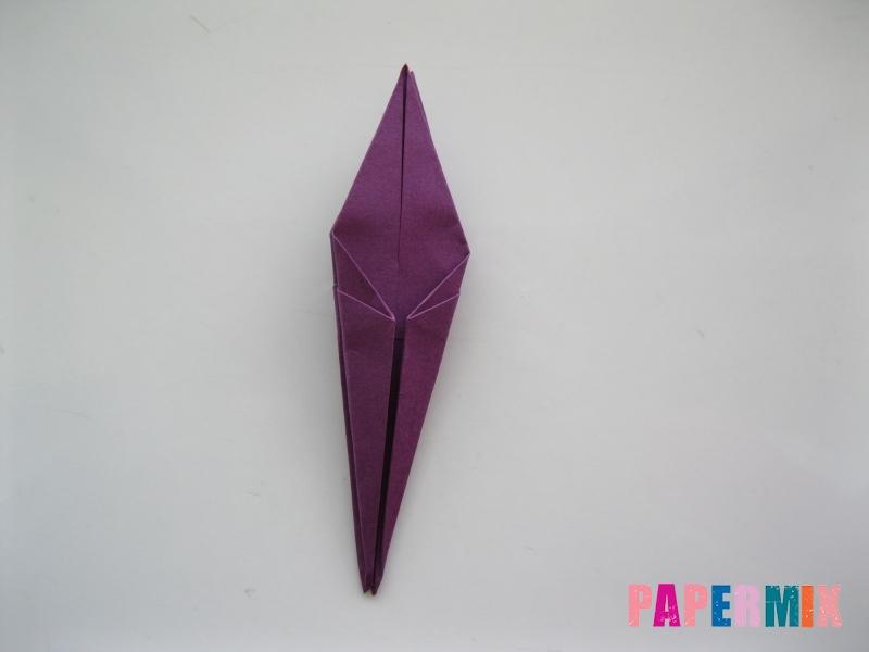 Как сделать журавлика из бумаги пошаговая инструкция - шаг 12