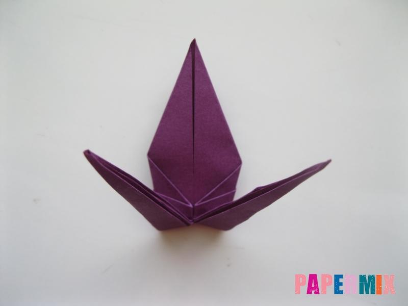 Как сделать журавлика из бумаги пошаговая инструкция - шаг 13