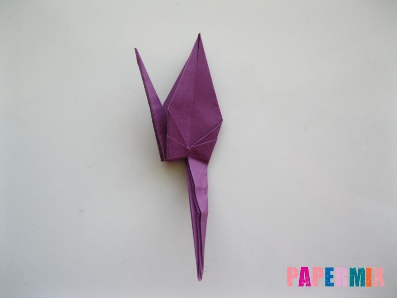 Как сделать журавлика из бумаги пошаговая инструкция - шаг 14