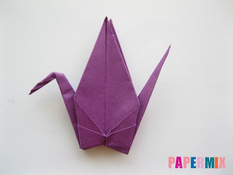 Как сделать журавлика из бумаги пошаговая инструкция - шаг 17