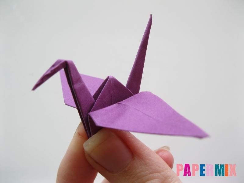 Как сделать журавлика из бумаги пошаговая инструкция - шаг 18