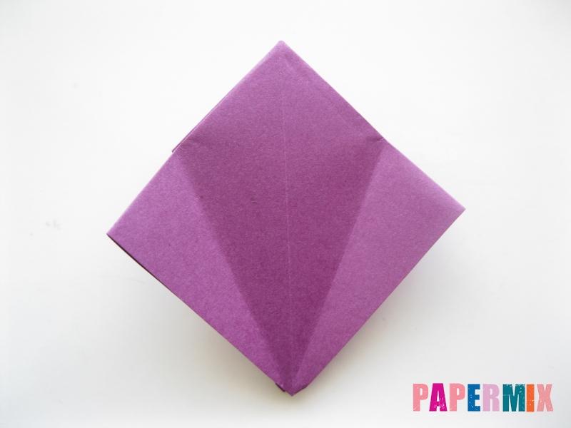 Как сделать журавлика из бумаги пошаговая инструкция - шаг 5