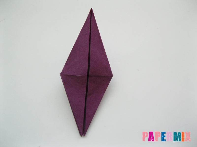 Как сделать журавлика из бумаги пошаговая инструкция - шаг 7