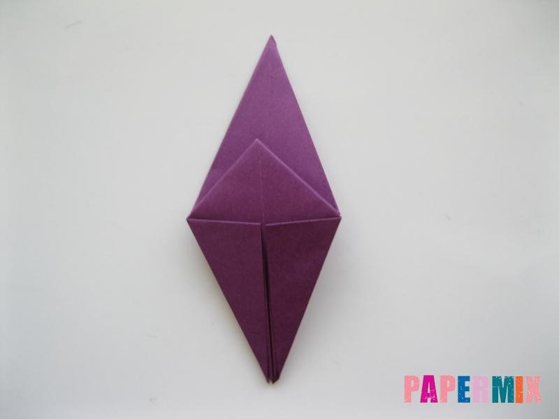 Как сделать журавлика из бумаги пошаговая инструкция - шаг 8