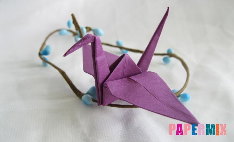 Как сделать журавлика из бумаги пошаговая инструкция