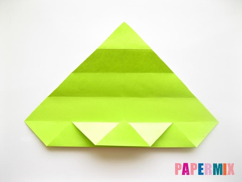 Как сделать змею из бумаги (оригами) поэтапно - шаг 7