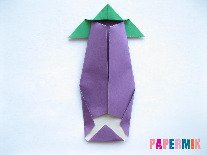 Как сделать баклажан из бумаги (оригами) своими руками - шаг 20