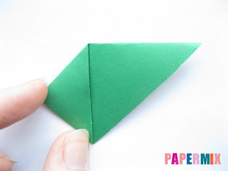 Как сделать баклажан из бумаги (оригами) своими руками - шаг 4