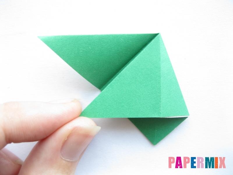 Как сделать баклажан из бумаги (оригами) своими руками - шаг 7