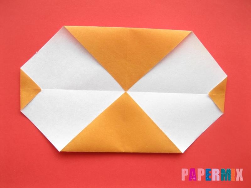 Как сделать круассан из бумаги (оригами) своими руками - шаг 4