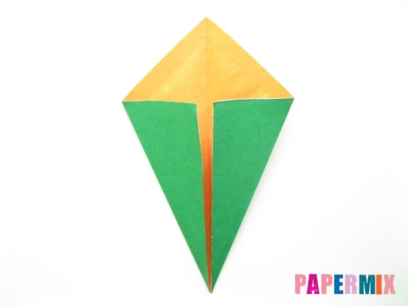 Как сделать кукурузу из бумаги (оригами) своими руками - шаг 3