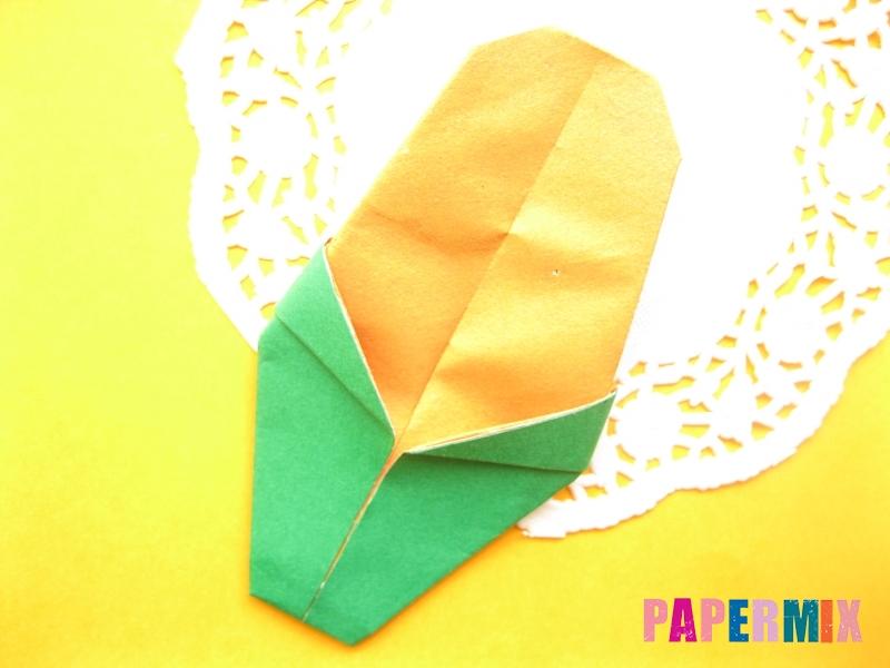 Как сделать кукурузу из бумаги (оригами) своими руками - шаг 9
