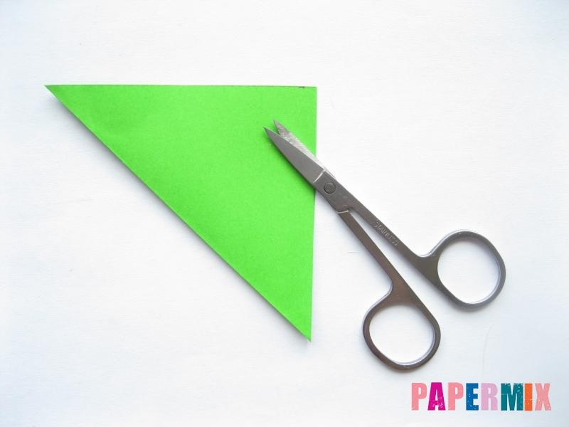 Как сделать морковку из бумаги (оригами) своими руками - шаг 10