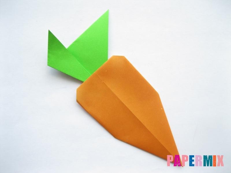 Как сделать морковку из бумаги (оригами) своими руками - шаг 15