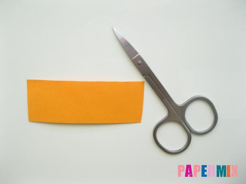 Как сделать объемную тыкву из бумаги своими руками - шаг 1