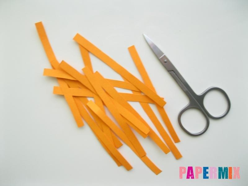 Как сделать объемную тыкву из бумаги своими руками - шаг 3