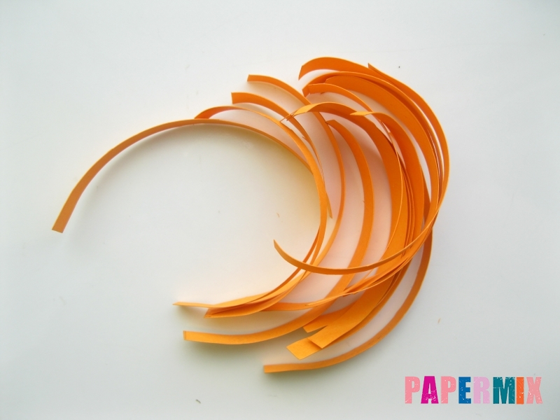 Как сделать объемную тыкву из бумаги своими руками - шаг 4
