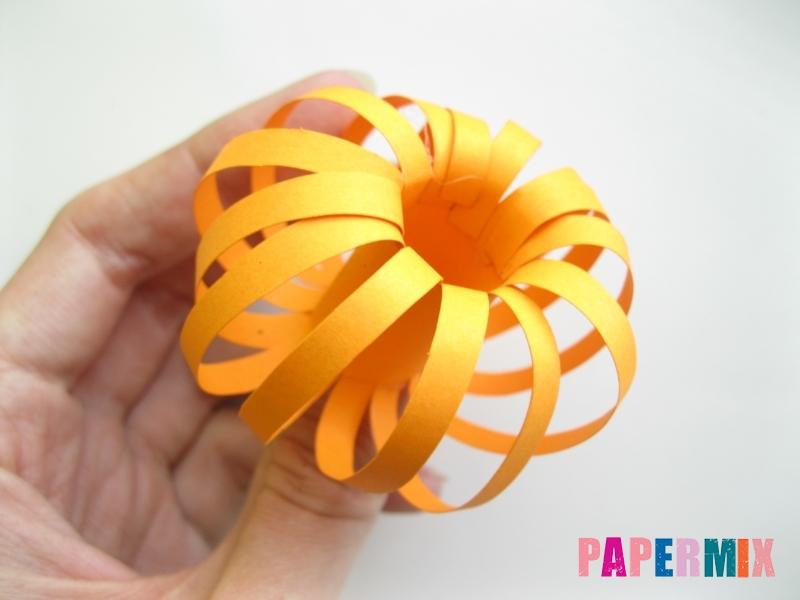 Как сделать объемную тыкву из бумаги своими руками - шаг 7