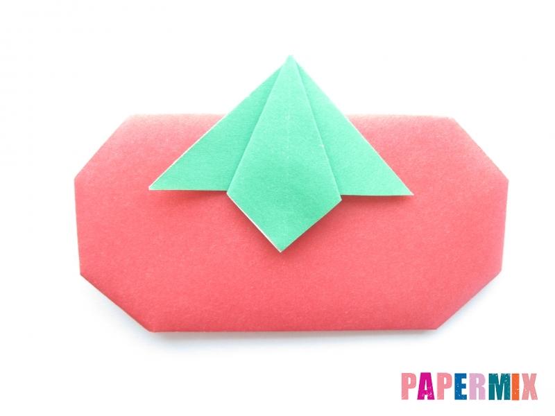 Как сделать помидор из бумаги (оригами) своими руками - шаг 13