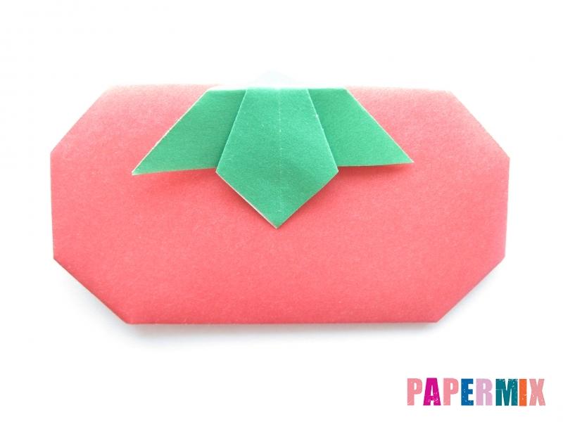 Как сделать помидор из бумаги (оригами) своими руками - шаг 14