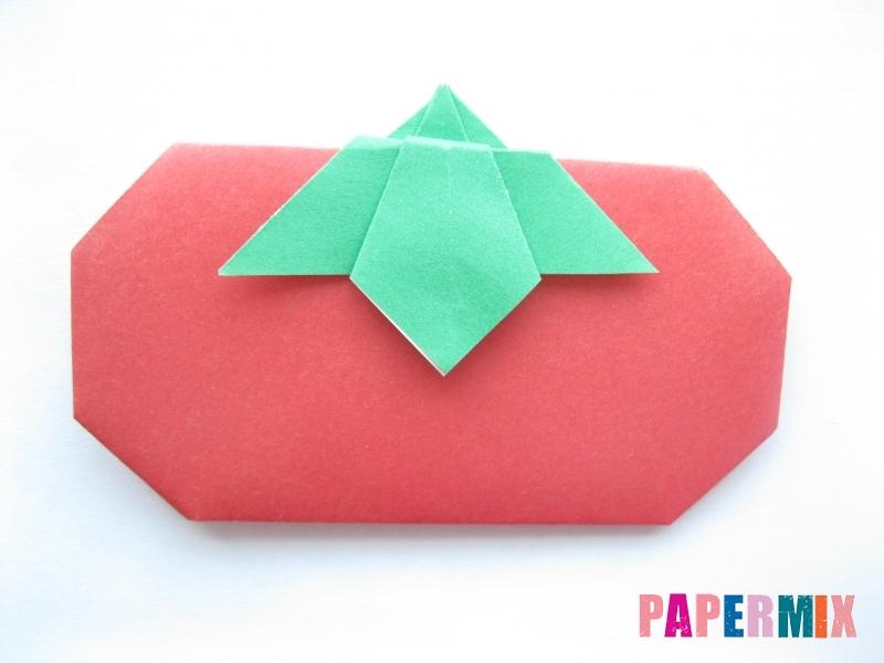 Как сделать помидор из бумаги (оригами) своими руками - шаг 15