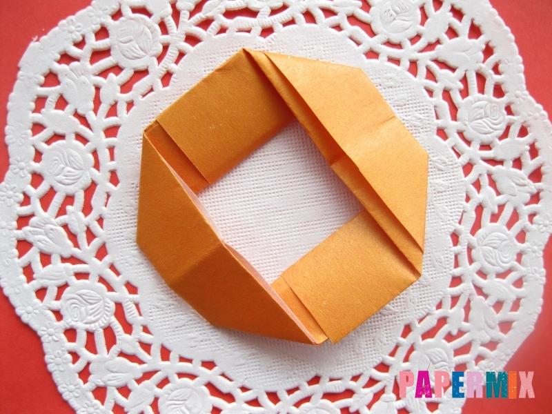 Как сделать пончик из бумаги (оригами) своими руками - шаг 7