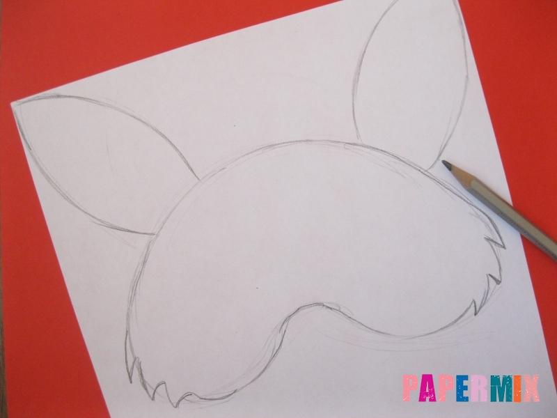 Как просто сделать маску зайца из бумаги своими руками - шаг 1