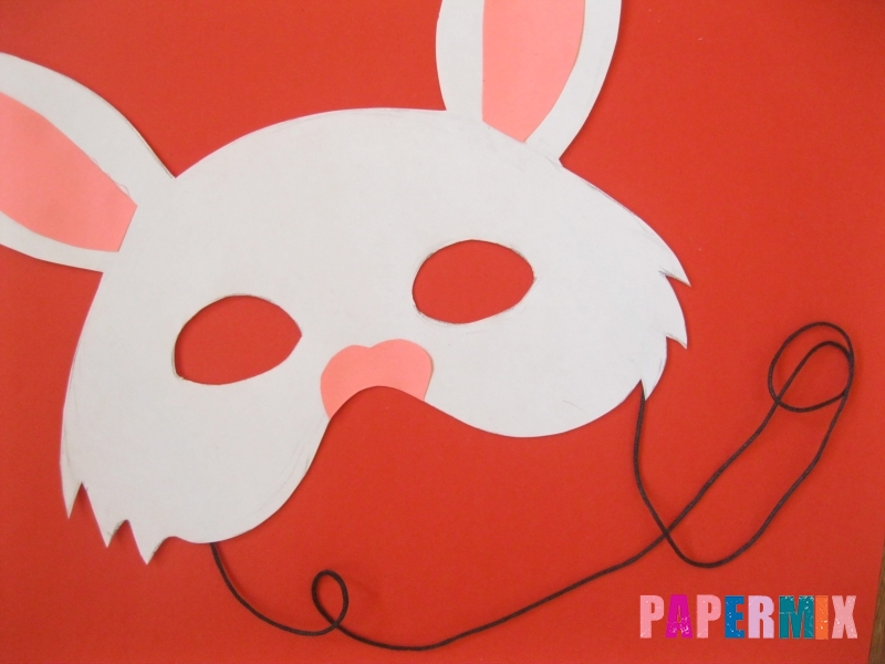 Как просто сделать маску зайца из бумаги своими руками - шаг 7
