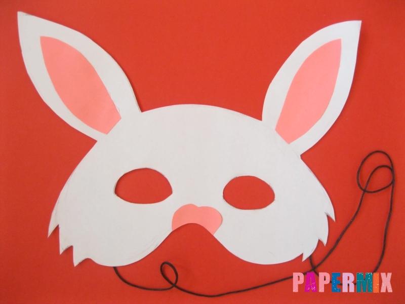 Как просто сделать маску зайца из бумаги своими руками - шаг 8