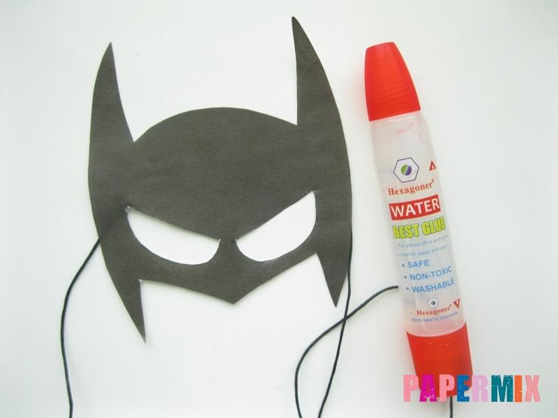 Как сделать маску Бэтмена из бумаги своими руками - шаг 5