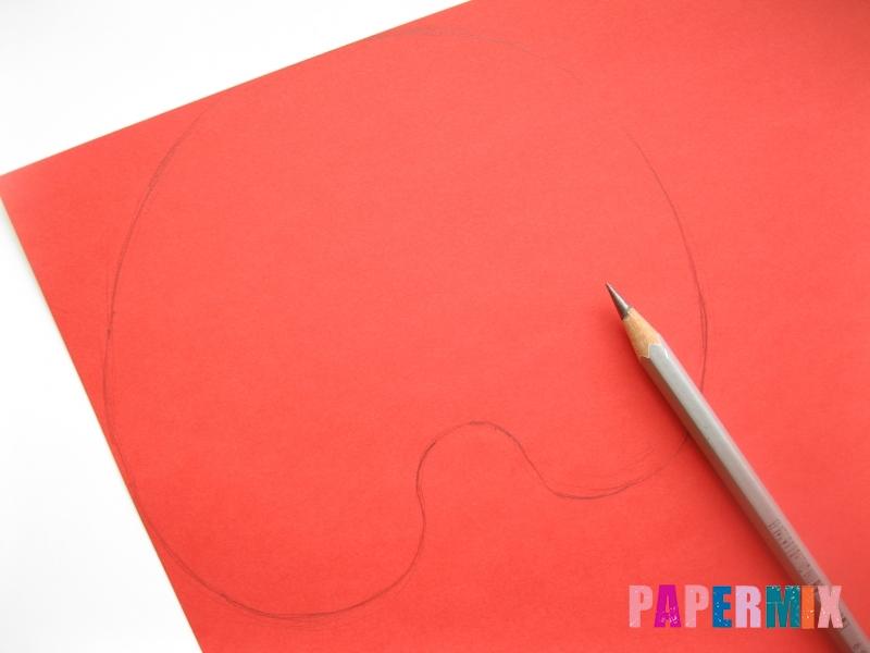 Как сделать маску человека паука из бумаги поэтапно - шаг 1