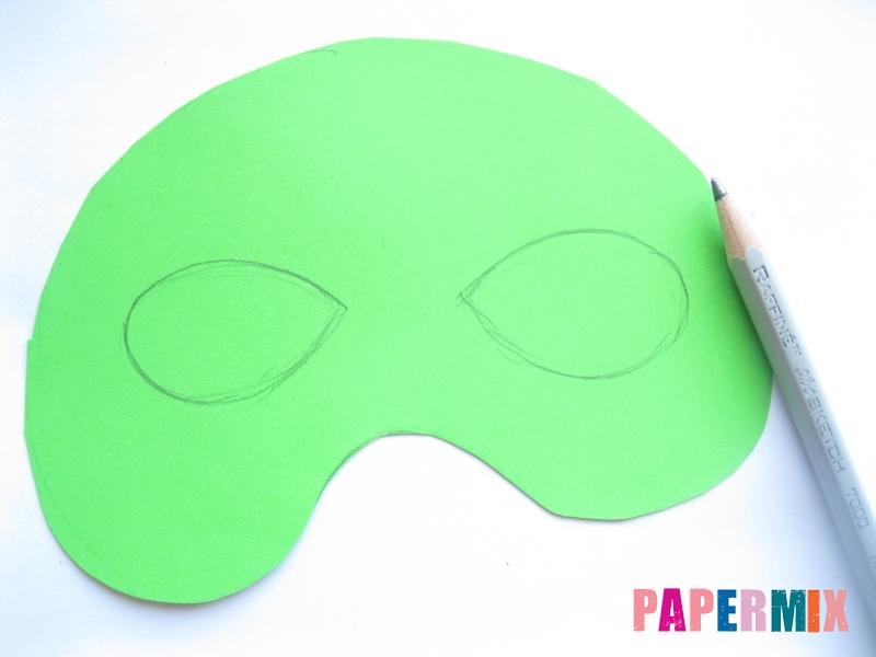 Как сделать маску черепашки ниндзя из бумаги поэтапно - шаг 3
